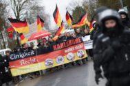 Manifestación neonazi en Mainz en 2016.