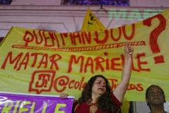 Homenaje a Marielle Franco en Río de Janeiro, el viernes.