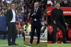 Valverde, Zidane y Simeone.