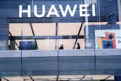 Tienda de Huawei en la ciudad donde se ubica su sede, Shenzhen (China).