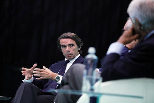 José María Aznar, el pasado julio durante un acto en Digital IES...