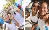 Alma Obregón y Paula Ordovás en el maratón