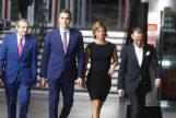 El presidente del Gobierno en funciones y candidato del PSOE, Pedro Sánchez, a su llegada al plató.