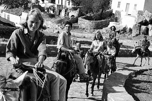Marianne Ihlen y Leonard Cohen en la isla griega de Hydra.