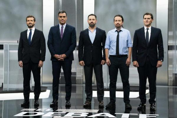 Pablo Casado, Pedro Sánchez, Santiago Abascal, Pablo Iglesias y...