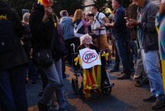 Anna Roselló en las protestas de este lunes contra el Rey.