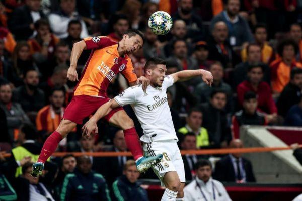Jovic en el partido de ida entre Real Madrid y Galatasaray
