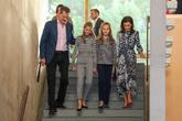 La Princesa y su hermana han acudido con sus padres a la jornada de...