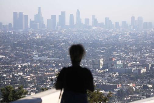 La calidad del aire en el área metropolitana de Los Ángeles, EEUU,...