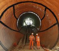 Túnel de la estación de Farringdon, en Londres, construida por Ferrovial dentro del proyecto Crossrail.