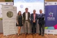 Historiadores y organizadores del acto en la Universidad de Málaga.
