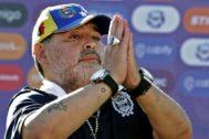 Maradona, durante un partido.