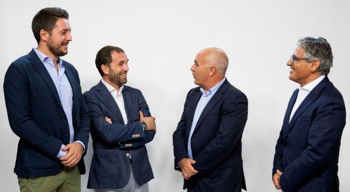 Alejandro Salas, David Cáceres, Antonio Conde y Juan José González...
