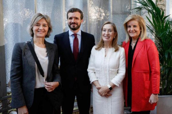 Isabel García Tejerina, Pablo Casado, Ana Pastor y Fátima Báñez,...