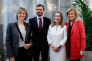Isabel García Tejerina, Pablo Casado, Ana Pastor y Fátima Báñez, en el desayuno de Nueva Economía Fórum.