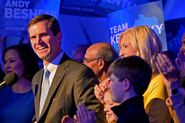 <HIT>Kentucky</HIT>&amp;apos;s Attorney General Andy Beshear reacts to election...