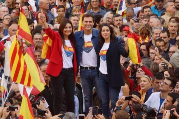 Lorena Roldán, Albert Rivera e Inés Arrimadas, los tres líderes del...