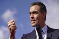 Pedro Sánchez, en un acto electoral celebrado en Córdoba este miércoles.