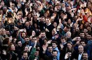 El candidato de Ciudadanos, Albert Rivera, en un acto, este miércoles, en Sevilla.
