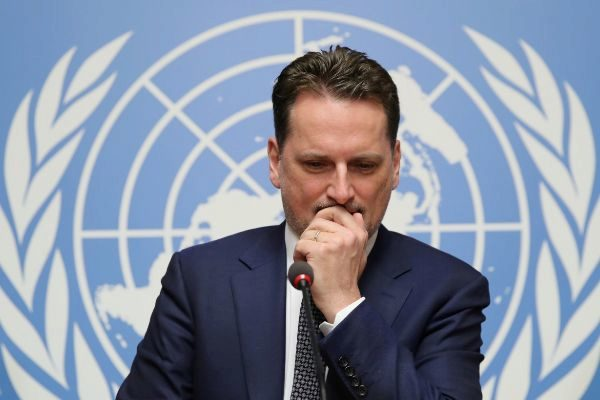 FILE PHOTO: Krahenbuhl Commissioner-General of the UNRWA attends a...