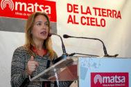 Paula Chaves Iborra, en un acto de Matsa en 2012.