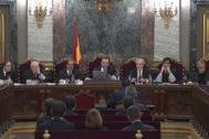 Una sesión del juicio en el Supremo.