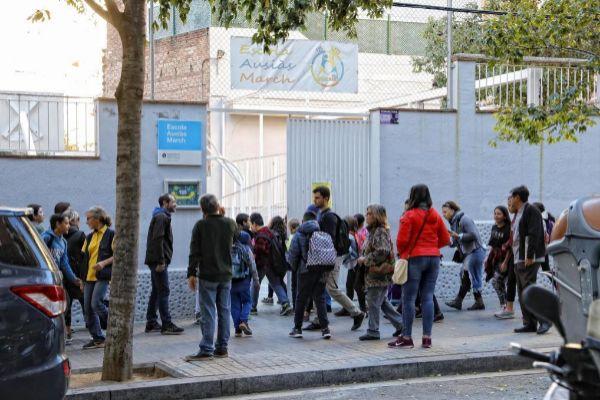 Alumnos de la Escuela Ausiàs March de Barcelona.