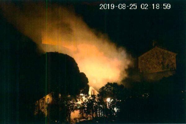 Deflagración provocada por los CDR detenidos, el apsado 25 de agosto...