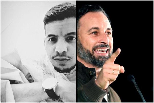 Omar Slama y Santiago Abascal.