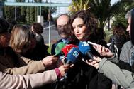 La presidenta Isabel Díaz Ayuso este viernes en Madrid.