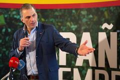 El secretario general de Vox, Javier Ortega Smith, en Zamora.