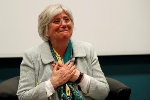 La ex consejera Clara Ponsatí, en un encuentro con nacionalistas...