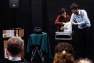 Momento de la representación teatral en la UPO de Sevilla.
