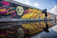 Trozo del muro de Berlín que sigue en pie.