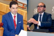 Toni Francés (i) portavoz del PSOE en la Diputación y Adrián Ballester (d) diputado y asesor legal del PP en el ente provincial.