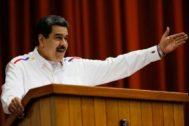 Nicolás Maduro, en la conferencia de La Habana, en Cuba.