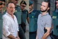 José Antonio Marín y su hijo Sandro, en los juzgados tras ser detenidos.