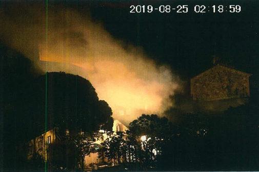 Imagen del sumario de los CDR de la explosión generada en el patio de...
