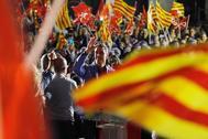 Pedro Sánchez, en el cierre de campaña del PSOE en Barcelona.