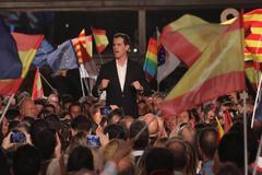 Albert Rivera, en el cierre de campaña de Ciudadanos en Barcelona.