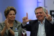 Alberto Fernández con Dilma Rousseff, en Buenos Aires.