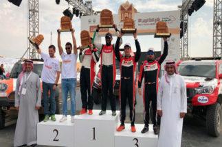Alonso y Coma, en el podio del Ula Neom Rally.