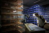 El almacén con las urnas y papeletas que serán utilizadas en las elecciones generales del 10-N.