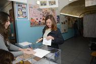 Francina Armengol, votando este domingo.