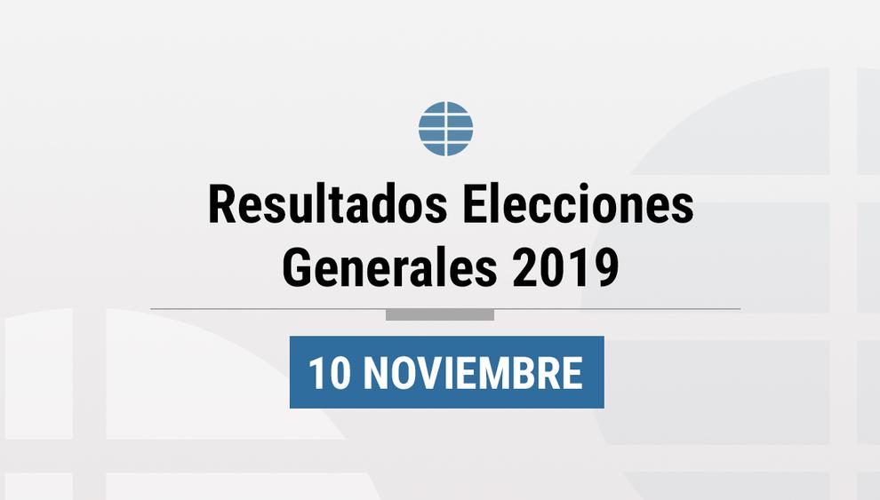 Los resultados de las elecciones generales 2019 en España, al...