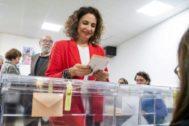 La ministra María Jesús Montero, cabeza de lista del PSOE por Sevilla.