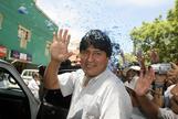 El líder indígena boliviano Evo Morales.