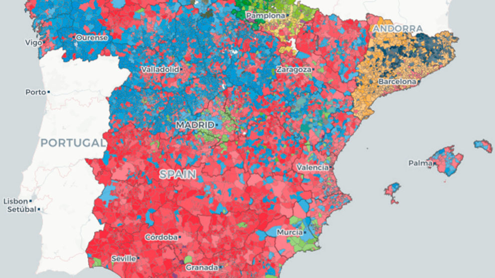 Municipios De Madrid Mapa.Mapa Municipal De Los Resultados De Las Elecciones Generales