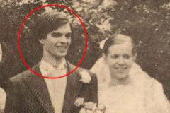 En el centro, Brigitte Trogneux (hoy Macron), en su primera boda con André Auzière (en el círculo), enhebrado a su brazo. ED. JC LATTÈS
