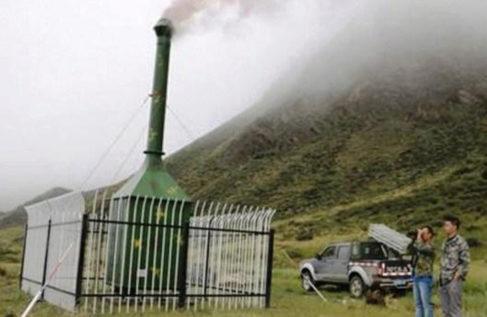 Una de las miles de cámaras de combustión que se usarán en el Tíbet.